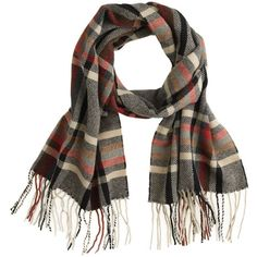 J.Crew Mosaic wool scarf (78 CAD) ❤ liked on Polyvore featuring mens, men's accessories и men's scarves