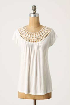 Lace Tracings Tee - anthropologie.com Should be able to figure out this pattern