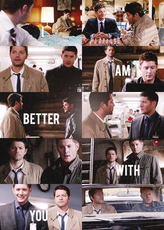 Dean and Cas. I adore their (often screwed up) relationship.