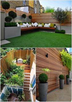 Impressive and Stylish Wood Screens for House Decoration is part of Backyard landscaping designs - Wood screens are a very elegant decor item that not only are good for partitioning and privacy but they can look really good if used for increasing the Backyard Garden Design, Small Garden Design, Terrace Garden, Patio Design, Backyard Patio, Backyard Landscaping, Pergola Patio, Garden Walls, Modern Pergola