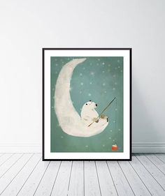 Catch a falling star. Nursery art Baby nursery print Moon and stars Childrens picture Nursery wall art Baby nursery art Whimsical art Baby Nursery Art, Star Nursery, Baby Wall Art, Nursery Prints, Nursery Ideas, Bohemian Baby Nurseries, Childrens Wall Art, Thing 1, Wall Art For Sale
