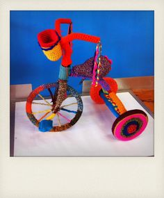 yarn bombing tricycle