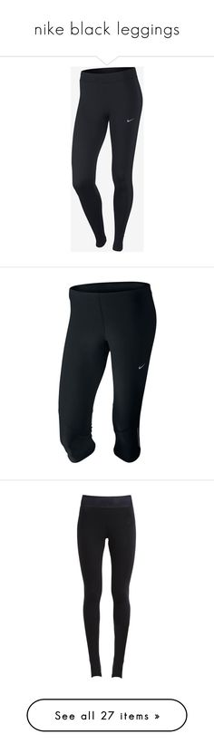 """""""nike black leggings"""" by serenag123 ❤ liked on Polyvore featuring activewear, activewear pants, leggings, pants, nike activewear, nike activewear pants, nike, nike sportswear, accessories and tech accessories"""