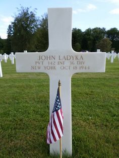 Private John Ladyka U.S. Army 142nd Infantry Regiment, 36th Infantry Division Entered the Service From: New York Service #: 32000750 Date of Death: October 18, 1944 World War II Buried: Plot B Row 37 Grave 50 Epinal American Cemetery Dinozé, France