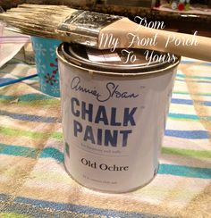 Old Ochre Annie Sloan Chalk Painted Kitchen Cabinets- From My Front PorchTo Yours. Good tips to remember.