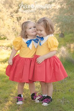 I love lucy and Ethel costume My twin girls