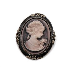 Retro Stylish Queen Victoria Badge Brooch - Brown#http://tinyurl.com/q2ltpp9