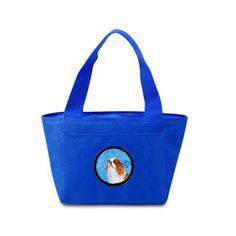 Blue English Toy Spaniel Lunch Bag or Doggie Bag SS4783-BU