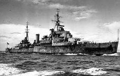 HMS Gambia Crown Colony class light cruiser!