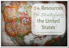 Websites, printables, and book suggestions for doing a 50 state study #homeschool #history #geography