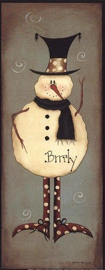 Mini-Brrrly ~ Fine-Art Print - Christmas Art Prints and Posters - Christmas Pictures Christmas Signs, Christmas Pictures, Christmas Snowman, All Things Christmas, Winter Christmas, Christmas Decorations, Christmas Ornaments, Snowman Crafts, Christmas Projects