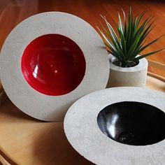 White cement bowl