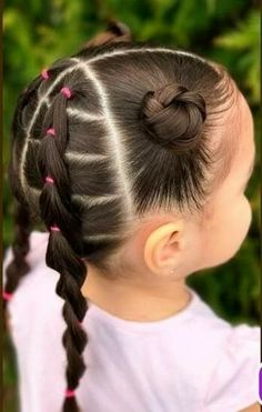 Baby Hairstyles Ideas – Baby and Toddler Clothing and Accesories Girls Hairdos, Lil Girl Hairstyles, Oval Face Hairstyles, Kids Braided Hairstyles, Princess Hairstyles, Girls Braids, Toddler Hairstyles, Side Braids, Prom Hairstyles