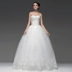 Ball Gown Sweetheart Brush Train Bridal Gown