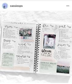 Get inspired by this weekly bullet journal spread