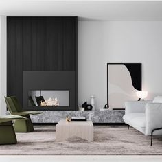 Architecture and Interiors Render Styling Creative Direction Studios, Decor Interior Design, Interior Decorating, Living Room Designs, Living Spaces, Cheap Wall Decor, Living Room Goals, Fireplace Design, Apartment Design