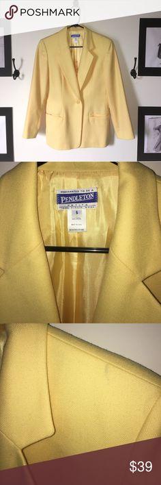 Pendleton vintage blazer Canary yellow vintage blazer. Great condition. 100% wool. Made in USA. Pendleton Jackets & Coats Blazers