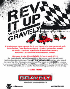 Join #Ariens at #GIE+EXPO in  Louisville KY #RevItUp