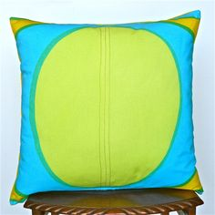 Yellow, Lime, Blue, Jade and Emerald Marimekko  Cotton Cushion Cover
