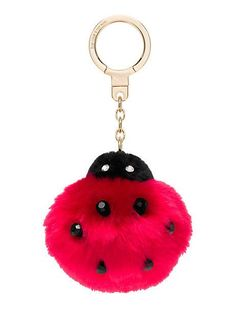 Kate Spade New York Lady Bug Pom Pom Keychain ---- I really don't need this, but I want it so bad! Handbag Accessories, Fashion Accessories, Coin Purse Wallet, Little Fashionista, Leather Keychain, Kawaii, Key Fobs, Things To Buy, Designing Women