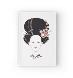 """Japan girl"" Hardcover Journals by ptitsa-tsatsa | Redbubble"