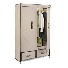 Wide Storage Closet Breathable Fabric Cover Keeps Clothes Fresh Pull Out Drawers #Hone
