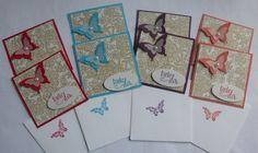 Schmetterlings - Mini - Dankeskarten