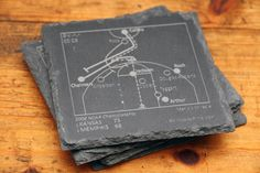 Kansas Great Plays Coasters by PointsAndPints on Etsy