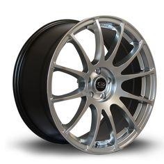 18 ROTA PWR SILVER 8.5J 5 stud 38 offset alloy wheels
