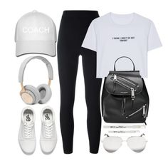 """""""Work Out Day"""" by monmondefou ❤ liked on Polyvore featuring B&O Play, Vans, adidas Originals, WithChic, Marc Jacobs, Victoria Beckham, Barry M, white and black"""