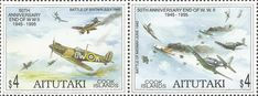 Stamp: Battle of Britain and Midway (Aitutaki) (50th Anniversary End of W.W. II 1945 - 1995) Mi:CK-AI 740-741,Sn:CK-AI 510 #colnect #collection #stamps