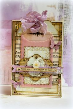 A card made with the C'est La Vie collection from #Bo Bunny