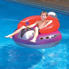 UFO 45in Spaceship Squirter Inflatable Lounge Chair With built-in gun Kids fun | eBay