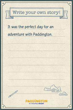 Creative writing activity with Paddington Bear theme! English Activities, Writing Activities, London Activities, Oso Paddington, Olympic Idea, Write Your Own Story, Kids Writing, Creative Writing, Bear Theme