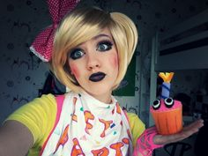 I cosplayed the toy chica bae from fnaf ~lotte #fivenightsatfreddys #toychica…