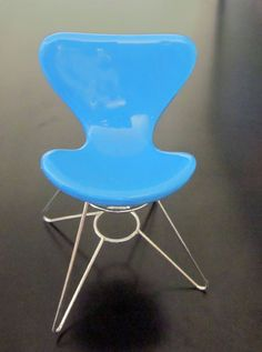 One of the miniature toy chairs owned by the New Mexico History Museum's collections manager.