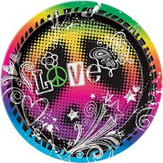 Peace Tie Dye Dessert Plates 8ct ** You can get more details by clicking on the image. #Dessert