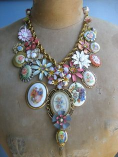 cute with vintage costume jewelry