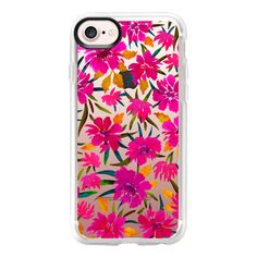 Flora - iPhone 7 Case And Cover ($40) ❤ liked on Polyvore featuring accessories, tech accessories, iphone case, apple iphone case, iphone cover case, clear iphone case and iphone cases