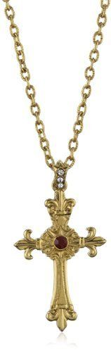 "The Vatican Library Collection Blessed Flower Of The Lily Necklace The Vatican Library Collection. $35.00. Pendant: 2 1/8""L x 1 1/8""W. Chain measures: 24""L x 1/8""W. Ornate cross"