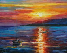 Morning River Canvas Print / Canvas Art by Leonid Afremov Simple Oil Painting, Sun Painting, Oil Painting Texture, Oil Painting On Canvas, Canvas Wall Art, Canvas Prints, Painting & Drawing, Sunrise Painting, Painting Abstract