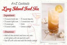 26 Easy-to-Make Drinks, A-Z Style  Follow this step-by-step guide to make the easiest drink recipes of your life! Learn how to make a Long Island Iced Tea, which is an easy and delicious classic cocktail!
