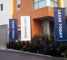 Leasing banners for the Lex on Orange
