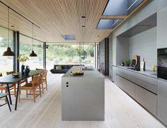 Casa R - Christoffersen & Weiling Architects - Audrye Liverseege Modern Architecture House, Interior Architecture, Interior Design, Interior Modern, Nordic Kitchen, Kitchen Living, Denmark House, Large Open Kitchens, Kitchen Room Design