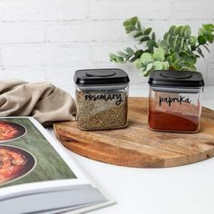 """Pantry Organisation Labels ™ on Instagram: """"We all know that feeling when you're rummaging at the back of the pantry for a certain herb or spice, frantically spinning jars to work out…"""" Kitchen Jar Labels, Pantry Labels, Custom Pantry, Glass Spice Jars, Pantry Makeover, Kitchen Organisation, Little Designs, Pretty Little, Spinning"""