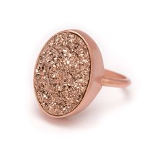 Rose Gold Druzy Ring - Rose Gold Ring - Druzy in Rose Gold Ring - Druzy / Drusy Quartz - Available in Sizes 6, 7 and 8 by kristinelily on Etsy https://www.etsy.com/listing/201394664/rose-gold-druzy-ring-rose-gold-ring