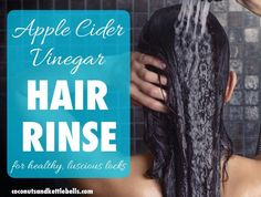 This super easy apple cider vinegar hair rinse can provide many benefits for the hair and scalp. Not only does it promote strong and healthy hair, it also can help reduce scalp issues like dandruff, and remove the build up that can occur on the hair and scalp from cosmetic products.