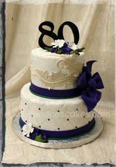 Elegant 80th Birthday Cakes | Elegant Birthday Cakes On 80th Cake Picture