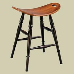Heritage Colonial Saddle Dining Stool
