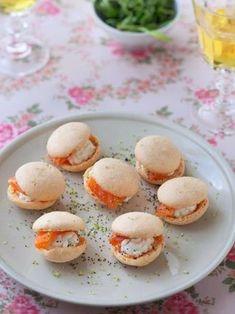 Macarons au saumon et au fromage frais